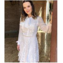 Vestido Renda Luzia Fazzoli Batizado - M - 40 - 42 - Sem marca