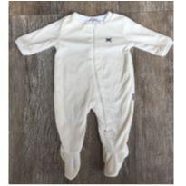 Macacão soft Branco Zíper Hering - 0 a 3 meses - Hering Kids