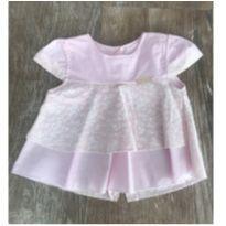 Blusa Florzinha Rosa - Recém Nascido - Dayane baby