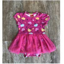 Vestido Body Pink Tule Kyly - 3 a 6 meses - Kyly