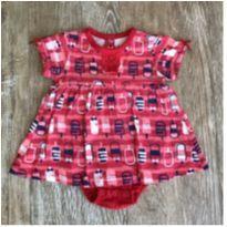 Vestido Body Vermelho Tip Top - 3 a 6 meses - Tip Top