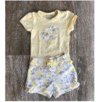 Conjunto Flower Body Amarelo Milon - 3 a 6 meses - Milon
