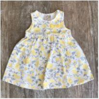 Vestido Body Amarelo Florzinha Milon - 3 a 6 meses - Milon