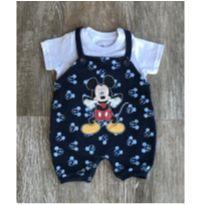 Macacão Romper Mickey Azul - 3 a 6 meses - Disney