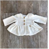 Casaco Fleece Off White Gira Baby - 3 meses - GiraBaby