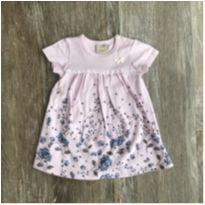 Vestido Body Rosa Floral Milon - 3 a 6 meses - Milon