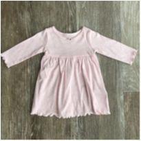Vestido Malha Rosa Carter's - 6 meses - Carter`s