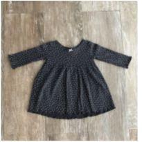 Vestido Preto Poá Malha Carters - 6 meses - Carter`s