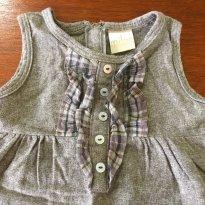 Vestido Milon Flanela - 12 a 18 meses - Milon