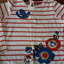 Camiseta Bordada Manga Longa Indigo - 1 ano - Não informada