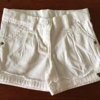 Short Branco Tip Top - 3 anos - Tip Top