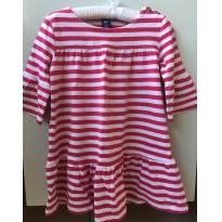 Vestido Gap Pink listras - 2 anos - GAP