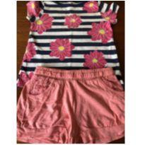 Conjunto Blusa Flores - 3 anos - GAP e Zara