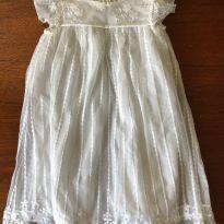 Vestido renda branco - 3 anos - Renner