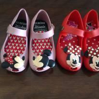 Sapatilhas rosa e vermelha Minnie n 19 - 19 - Não informada ( Replica)