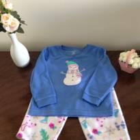 Pijama plush Carters Boneco de neve - 18 meses - Carter`s