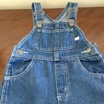 Jardineira jeans+Moleton+Camisetinha - 1 ano - Carter`s