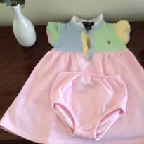 Vestido Ralph Lauren com tapa-fralda - 9 meses - Ralph Lauren