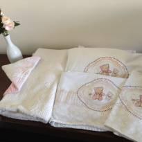 Conjunto de cama Ursinho + Toalha com capuz -  - Colibri