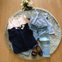 Conjunto Zara bata,  bata manga comprida, calça jeans e sapatilha - 12 a 18 meses - Zara Baby e Molekinha