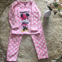 Pijama quentinho Minnie rosa - 3 anos - Não informada