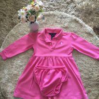 Vestido Ralph Lauren rosa com tapa fralda - 2 anos - Ralph Lauren