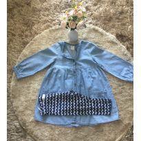 Conjunto vestido jeans e legging H&M - 18 a 24 meses - H&M