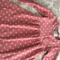 Vestido de inverno rosa e cinza tamanho 04 - 4 anos - Poim, Cherokee e Up Baby