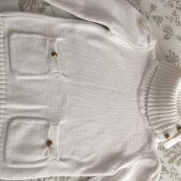 Suéter lã branco com gola alta tamanho 04 - 4 anos - Não informada
