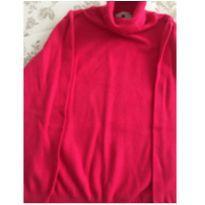 Blusa linho pink gola alta - 4 anos - Não informada