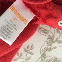Camiseta manga comprida vermelha tamanho 03 T Gymboree - 3 anos - Gymboree