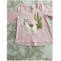 Camiseta manga comprida lhama rosa tamanho 04 - 4 anos - Baby Club