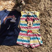 Macaquinho mais vestidinho Minnie tamanho 04 - 4 anos - Não informada