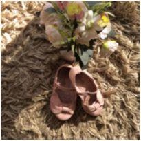 Sapatilha de veludo rosa tamanho 24 - 24 - Não informada
