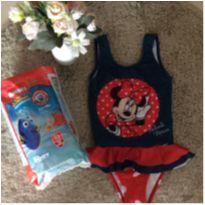 Kit piscina (maiô Minnie tam 04 e pacote de fraldas Huggies G 10 unidades) -  - Não informada