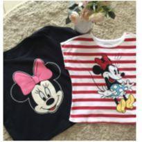02 camisetas cropped Minnie Mouse - 4 anos - Não informada