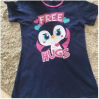 Camisola de verão  Puket corujinha tamanho 04 - 4 anos - Puket