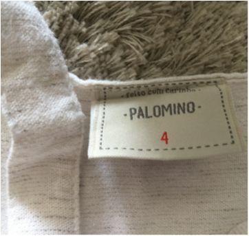 Vestido bege com botões tamanho 04 - 4 anos - Palomino