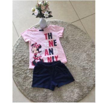 Conjunto short e camiseta regata Minnie azul marinho - 4 anos - Não informada