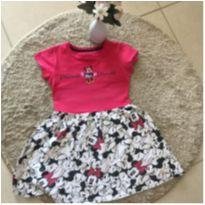Vestido Minnie tamanho pink  5/6 - 5 anos - Não informada
