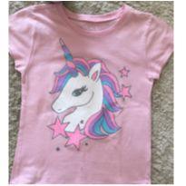 Camiseta rosa unicórnio Children's Place - 4 anos - The Children`s Place