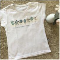 Camiseta branca com estampa - 4 anos - Não informada