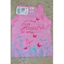 Blusa borboleta Let Your Heart sing rosa - 1 ano - Brandili