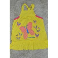 Vestido amarelinho de borboleta - 1 ano - Não informada