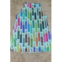 Vestido estampado lápis - 12 a 18 meses - Não informada