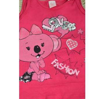 Blusa  regata Fashion Lilica-Pink - 6 a 9 meses - Lilica Ripilica