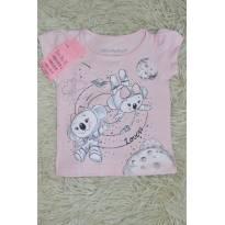 Blusa de manga Lilica astronauta- rosa - 3 a 6 meses - Lilica Ripilica