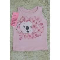Blusa Regata Baby Lilica -rosa - 9 a 12 meses - Lilica Ripilica