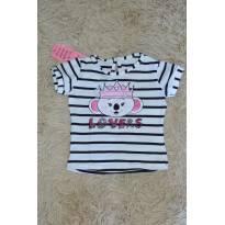 Blusa de manga listrada Lilica-preta e branca - 9 a 12 meses - Lilica Ripilica