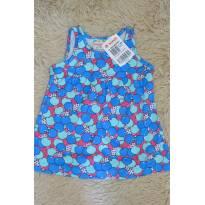 Vestido Maçãs azul - 9 meses - Brandili